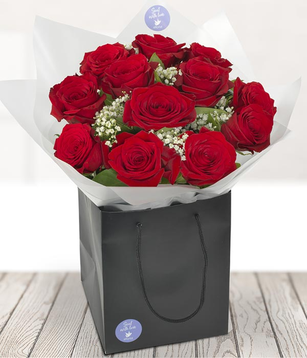 dozen red roses flower delivery by teleflorist ie