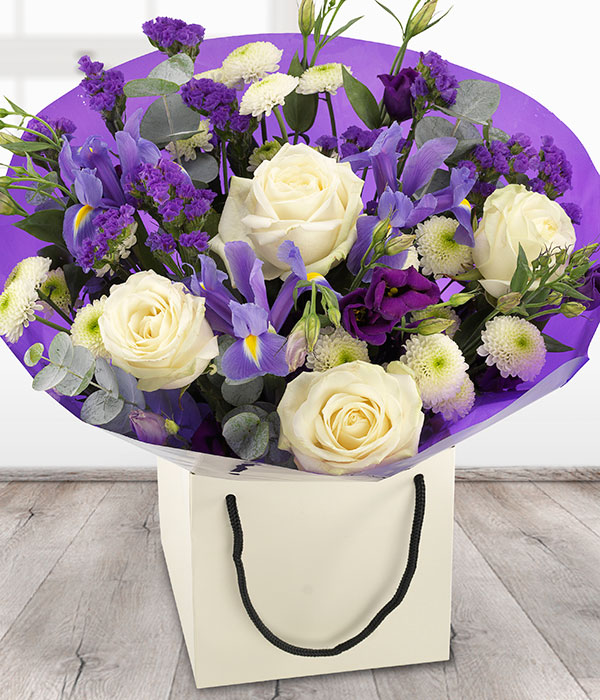 Thank You Bouquet - Purple & White Flowers Delivered - Send Flowers ...
