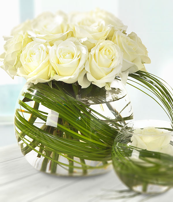 welcome to the world dual white rose vase arrangement rh teleflorist ie