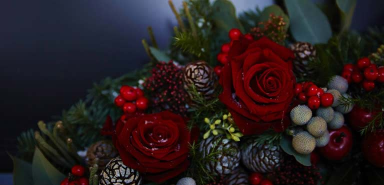 Christmas Flowers By A Local Florist